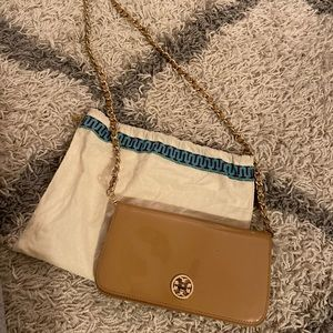 Tory Burch Tan Crossbody Clutch